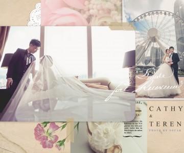 在摩天輪下拋下花球 Cathy & Terence Big Day By OSCAR