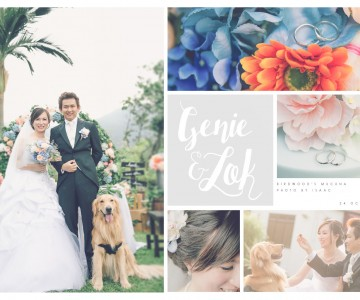 帶同寵物的戶外婚禮 Genie & Lok by ISAAC